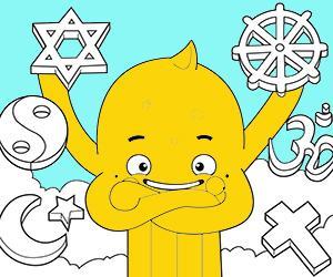 Dibuixos per pintar de Religió